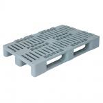 Hygienepalette H1, 1200 x 800 x 160 mm, Oberdeck durchbrochen, 100% PE-Kunststoff, grau