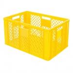 Stapelbehälter / Bäckerkiste mit 4 Durchfassgriffen, LxBxH 600 x 400 x 320 mm, gelb