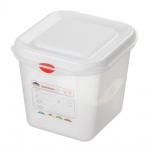 GN-Vorratsdose/Frischhaltebox mit Deckel, GN1/6, LxBxH 176 x 162 x 150 mm, Inhalt 2, 6 Liter