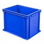 Eurobehälter mit 2 Griffleisten, LxBxH 400 x 300 x 320 mm, blau