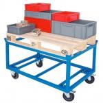 Rahmenroller LxBxH 1220 x 820 x 790 mm, Tragkraft 1000 kg, Rad-ØxB 200 x 50 mm, Elastic-Vollgummi-Reifen