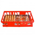Kuchenblechkasten, Wände und Boden durchbrochen, Außenmaße LxBxH 660 x 460 x 160 mm