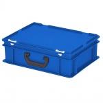 Kunststoffkoffer / Eurokoffer mit 1 Tragegriff, LxBxH 400 x 300 x 130 mm, blau