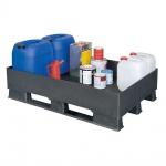 Auffangwanne für wassergefährdende Stoffe / Gefahrgut, Kunststoff, 120 Liter Auffangvolumen, LxBxH 1200 x 800 x 315 mm