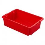 Drehstapelbehälter, Inhalt 30 Liter, Farbe rot, LxBxH 595 x 395 x 170 mm