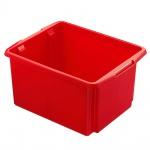 Drehstapelbehälter, Inhalt 32 Liter, Farbe rot, LxBxH 455 x 360 x 245 mm