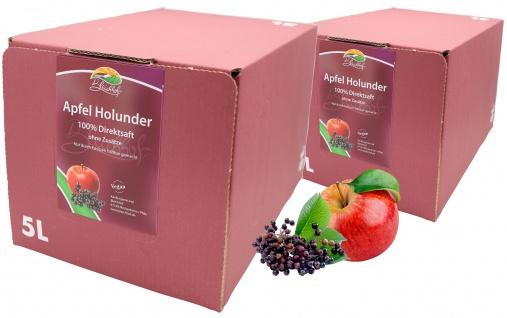 Bleichhof Apfel-Holunder Saft - 100% Direktsaft, mit Zapfsystem (2x 5l Saftbox)