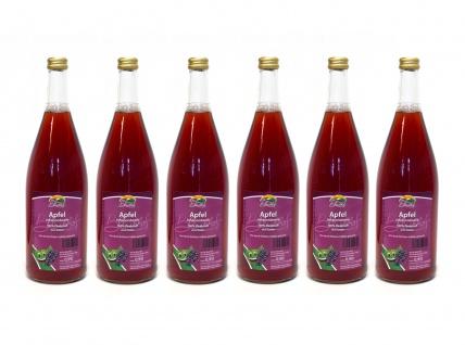 Apfel-Johannisbeere-Saft vom Bleichhof (6x 0, 72L) vegan - Vorschau 1