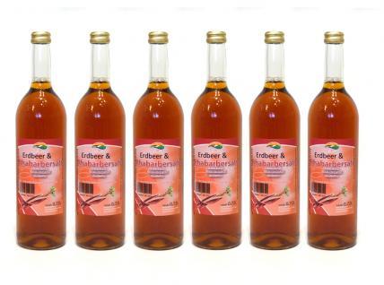 Erdbeer-Rhabarber-Saft vom Bleichhof (6x 0, 72L) vegan - Vorschau 1
