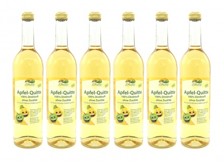 Apfel-Quittensaft vom Bleichhof (6x 0, 72L) vegan - Vorschau 1