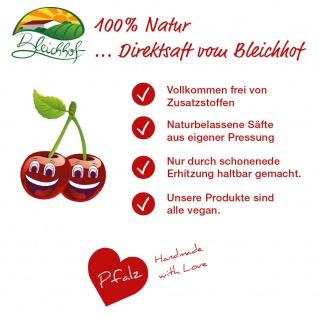 Sauerkirschsaft vom Bleichhof, 100%Direktsaft ohne Zusätze Bag-in-Box mit Zapfsystem(5LSaftbox) vegan - Vorschau 3