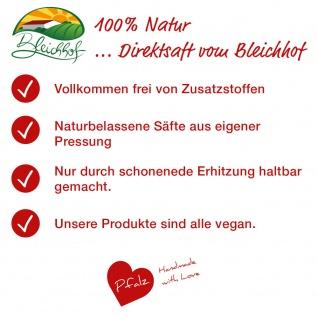 Erdbeer-Rhabarber-Saft vom Bleichhof (6x 0, 72L) vegan - Vorschau 4