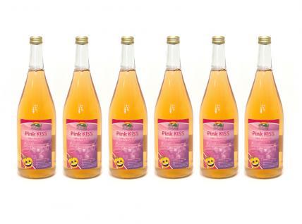 Pink Kiss vom Bleichhof - Apfelsaft mit 10% Weirouge (rotfleischiger Apfel) - (6x 0, 95 L) vegan - Vorschau 1