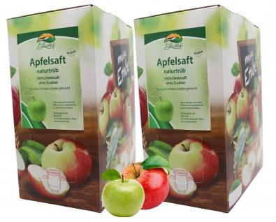 Bleichhof Apfelsaft naturtrüb - 100% Direktsaft, Bag-in-Box (2x 3l Saftbox)