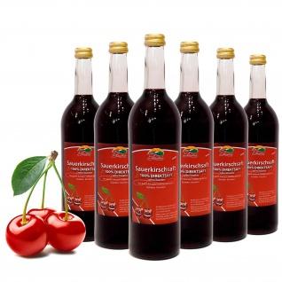Bleichhof Sauerkirschsaft - 100% Direktsaft OHNE Zuckerzusatz, vegan (6x 0, 72l)