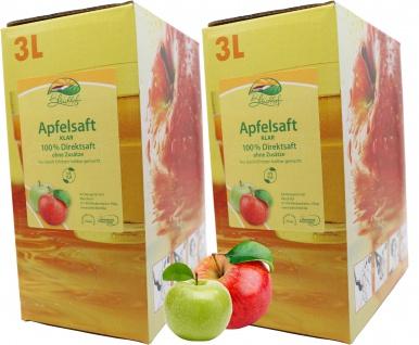 Bleichhof Apfelsaft klar - 100% Direktsaft, Bag-in-Box (2x 3l Saftbox)