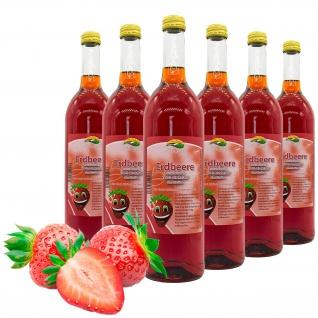 Bleichhof Erdbeersaft - 100% Direktsaft, vegan, 6er Pack (6x 0, 72l)