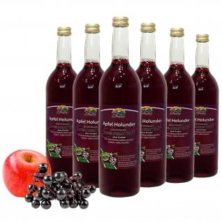 Bleichhof Apfel-Holunder Saft - 100% Direktsaft, OHNE Zuckerzusatz (6x 0, 72l)