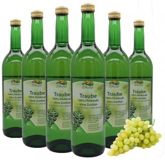 Bleichhof Traubensaft (weiß) - 100% Direktsaft, OHNE Zuckerzusatz (6x 0, 72l)