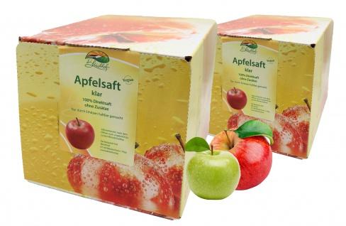 Bleichhof Apfelsaft klar - 100% Direktsaft, OHNE Zuckerzusatz (2x 5l Saftbox)