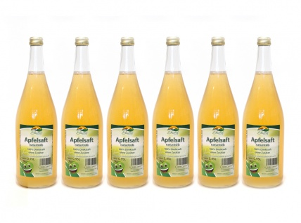 Apfelsaft naturtrüb vom Bleichhof (6x 0, 95L) vegan