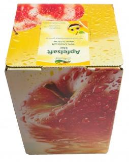 Apfelsaft klar vom Bleichhof, 100% Direktsaft ohne Zusätze, Bag-in-Box Zapfsystem (5L Saftbox) vegan - Vorschau 1