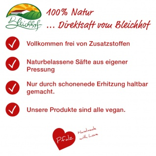 Apfelsaft naturtrüb vom Bleichhof (6x 0, 95L) vegan - Vorschau 4