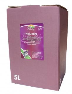 Holundersaft vom Bleichhof, 100%Direktsaft ohne Zusätze Bag-in-Box mit Zapfsystem (5LSaftbox) vegan