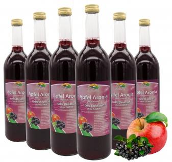 Bleichhof Apfel-Aronia Saft - 100% Direktsaft, OHNE Zuckerzusatz (6x 0, 72l)