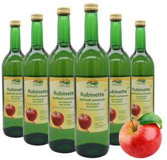 Bleichhof Apfelsaft Rubinette, 100% Direktsaft, sortenrein, 6er Pack (6 x 0, 72l)