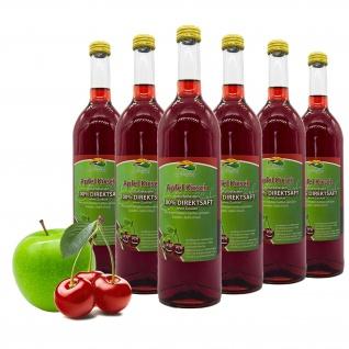 Bleichhof Apfel-Kirsch Saft - 100% Direktsaft, OHNE Zuckerzusatz, (6x 0, 72l)