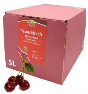 Bleichhof Sauerkirschsaft - 100% Direktsaft, Bag-in-Box (1x 5l Saftbox)