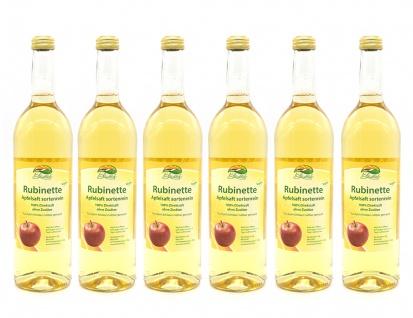 Apfelsaft Rubinette vom Bleichhof, sortenrein (6x 0, 72L) vegan
