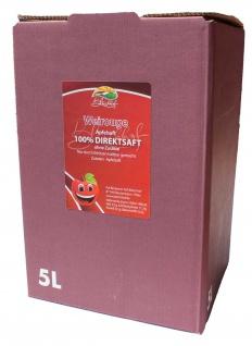 Weirouge Apfelsaft vom Bleichhof, 100% Direktsaft ohne Zusätze, Bag-in-Box Zapfsystem(5LSaftbox) vegan