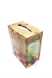 Apfelsaft naturtrüb vom Bleichhof, 100% Direktsaft ohne Zusätze, Bag-in-Box Zapfsystem (2x5L Saftbox) vegan - neue Ernte 2018