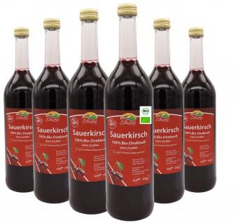 Bleichhof Bio-Sauerkirschsaft (6x 0, 72l) - 100% Direktsaft, vegan & bio