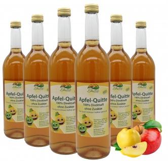 Bleichhof Apfel-Quitten Saft - 100% Direktsaft, OHNE Zuckerzusatz (6x 0, 72l)