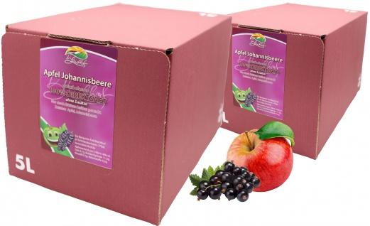 Bleichhof Apfel-Johannisbeer Direktsaft -- 100% Direktsaft (2x 5l Saftbox)
