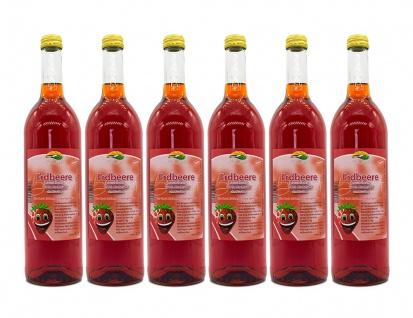 Erdbeersaft vom Bleichhof (6x 0, 72l) vegan