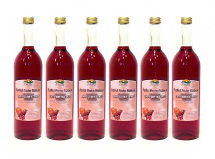Apfel-Rote-Rüben-Saft vom Bleichhof (6x 0, 72L) vegan - Vorschau 1