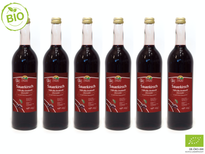 Bio-Sauerkirschsaft vom Bleichhof (6x 0, 72l) vegan & bio