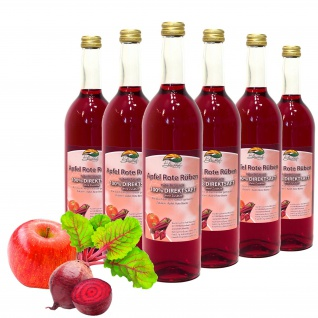 Bleichhof Apfelsaft mit Rote-Rüben Saft - 100% Direktsaft, OHNE Zuckerzusatz (6x 0, 72l)
