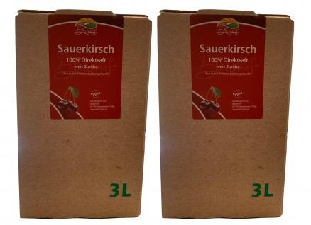 Bleichhof Sauerkirschsaft - 100% Direktsaft, Bag-in-Box (2x 3l Saftbox)