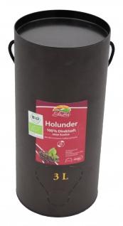 Bleichho Bio Holundersaft- 100% Direktsaft, Bag-in-Box mit Zapfsystem (3l Saftbox)