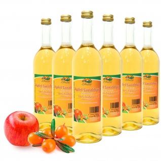 Bleichhof Apfel-Sanddorn Saft - 100% Direktsaft, OHNE Zuckerzusatz, (6x 0, 72l)