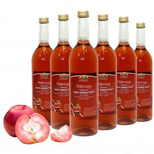 Bleichhof Apfelsaft Weirouge - 100% Direktsaft, OHNE Zuckerzusatz (6x 0, 72l)