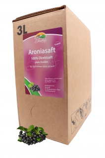 Bleichho Aroniasaft- 100% Direktsaft, Bag-in-Box mit Zapfsystem (3l Saftbox)