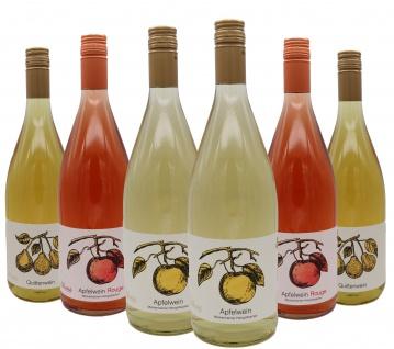 Bleichhof Mixkarton Wein 2x Apfelwein Herrgottsacker, 2x Apfelwein Rouge, 2x Quittenwein (6x1L) 11, 5% vol.