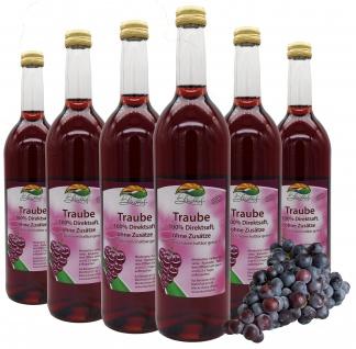 Bleichhof Traubensaft (rot) - 100% Direktsaft, OHNE Zuckerzusatz (6x 0, 72l)