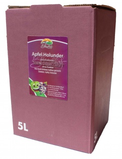 Apfel-Holunder-Saft Bleichhof, 100% Direktsaft ohne Zusätze, Bag-in-Box Verpackung(2x 5LSaftbox) vegan